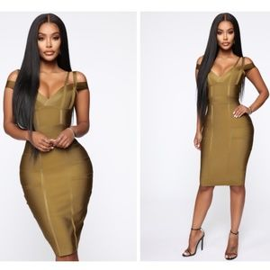 Lansa Bandage Dress - Olive